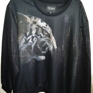 GUESS Luther Tiger Crew sweatshirt